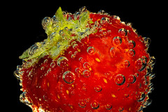 strawberry + champagne (Rainer D) Tags: strawberry champagne tasty red delicious canon6d food black redblack ef100mmf28lmacroisusm canon6def100mmf28lmacroisusm blackbackground light