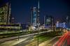 Milano city (fotopierino) Tags: milano fotopierino canon 5d mark iii tram trail 24105 notturno luci city angoli di long exposure porta garibaldi unicredit axa notte night piazza gae aulenti