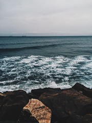 Sea Capture-3 (mvrry) Tags: ocean sea earth nature rage wave waves dark winter photography vsco vscocam vscolover vscocamlover grey greysky moody ease breeze hypebeast preset moldiv compfort crashing iphoneography