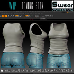 Sneak Peek! Coming soon for women! (Lapointe & Bastchild) Tags: lapointe bastchild fashion clothing second life belleza maitreya lara isis freya venus slink physique hourglass fit mesh fitmesh shorts denim tank top tshirt tee graphic leather belt summer womens sexy curves