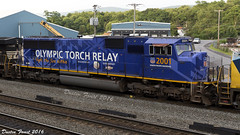 UP 2001 Olympic Torch Relay (DFaustAltoona) Tags: up 2001 union pacific sd70m emd olympic torch relay ns 16n altoona pennsylvania
