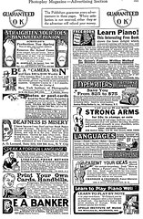 Photoplay Ad Page (kevin63) Tags: magazine advertising play arms contest piano be strong ideas cure languages 1900s typewriters rebuilt banker patent remedy photoplay bunion deafness learnforeign