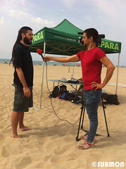Limpieza playa Viladecans2 (Submon) Tags: viladecans limpieza playa neteja platja basura marina marine litter cleanup entrevista interview