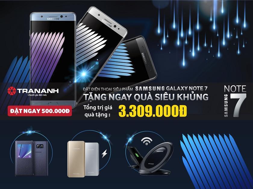 Đặt trước siêu phẩm Samsung Galaxy Note 7 - Nhận quà siêu khủng