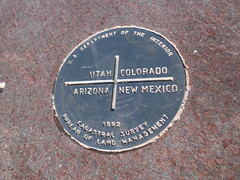 Four Corners (PhotonVulture) Tags: arizona colorado utah newmexico intersect intersection indian monument quad four 4 corners perpendicular us department interior 1992 cadastral survey marker bureau land management rural country x marks spot xmarksthespot