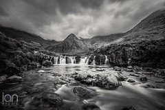 Fairy Pools (ianbrodie1) Tags: fairy pools waterfall waterfalls isle skye mountains longexposure scotland highlands rocks smooth outdoor water black cullins glenbrittle river brittle blackwhite sky cloud angry