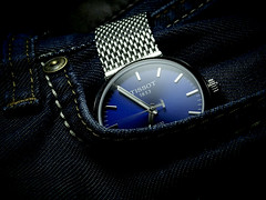 Tissot PR100 Powermatic 80 (Fana ) Tags: tissot pr100 powermatic 80 swiss made eta montre watch timepiece wrist automatic automatique blue dial cadran bleu fanawatches watchelse horloge mesh strap bracelet maille