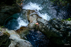 Climbing between falls  (T.ye) Tags: fall people landscape water outside swimming jump jumper todd ye