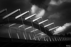 Montbeliard_0416-5-3 (Mich.Ka) Tags: doubs franchecomte abstract abstrait architecture blackandwhite bridge grafic graphique montbeliard noiretblanc pont structure urbain urban