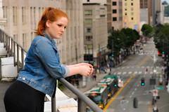 _DSC1240 (carlinm) Tags: roof rooftop rooftops photography photos redhead redhair denim jeanjacket adidas seattle seattlebased seattlephotography seattledowntown downtown rooftopdowntown style fashion blonde model modeling portrait fullbody models city cityseattle seattlecity