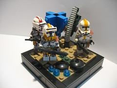 Star Wars III: 327th Star Corps on Felucia (MHU Customs) Tags: star wars lego clones
