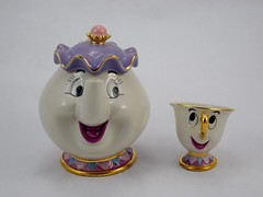 Mrs. Potts and Chip Ceramic Teapot and Cup Set - Amazon Purchase - Deboxed - Full Front View (drj1828) Tags: amazon disney beautyandthebeast 2016 mrspotts chip ceramic teacup teapot teaset katokogei