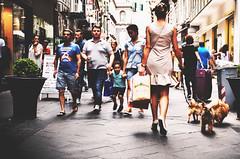 passeggiando (maurizio siani) Tags: street summer italy woman dog dogs cane shopping donna store strada italia estate gente ponte via persone napoli naples bellezza ragazza cani capelli luglio passeggio dietro 2016 negozi camminare napoletana napoletano eleganza guinzaglio passeggiare chiaia spalle cammina vestitino comprare raccolti