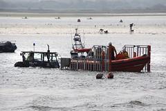 (Capt' Gorgeous) Tags: rnli tractor launch trailer christchurch mudeford dorset coast beachhuts sea sand huts harbour