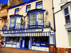 Ilfracombe, North Devon (photphobia) Tags: ilfracombe northdevon uk seaside victorian victorianresort holiday sky oldwivestale outdoor road buildings building buildingsarebeautiful architecture houses shops hotel victorianterrace fishandchips chipshop shop thequay