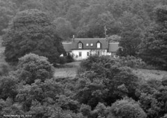 Scotland West Highlands Argyll a remote house above Loch Striven 26 June 2016 by Anne MacKay (Anne MacKay images of interest & wonder) Tags: scotland west highlands argyll old house loch striven monochrome blackandwhite landscape xs1 26 june 2016 picture by anne mackay