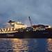 Pioneering Spirit vertrekt vanaf Maasvlakte 2 naar de Noordzee 6-8-2016