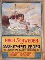 Vintage travel poster (hjnship) Tags: sassnitz trelleborg poster vintage travel eisenbahn fhrschiff railwayferry drottningvictoria