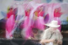 Photographing the Dancers, Fusion Festival 2016 (ScarletBlack) Tags: motionblur photoimpressionism fusionfestival pinkdancers dancers stage festival photographer