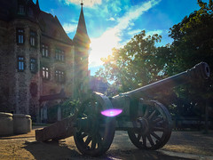 2016 Gun and Castle (jeho75) Tags: iphone 6s deutschland germany wernigerode harz morgen morning sunrise gun cannon castle schlos
