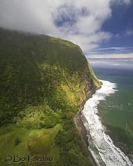 North coast (bodiver) Tags: hawaii ocean surf waipio clouds cliff pali