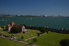 St Mary's & Portsmouth from the Castle of Porchester (CoasterMadMatt) Tags: portchestercastle2016 portchestercastle portchester castle keep view views viewpoint portusadurni portus adurni romanfort roman fort stmaryschurchporchester stmaryschurch saintmaryschurch marys church porchesterchurch englishchurches sea ocean harbour naturalharbour portsmouth spinnakertower spinnaker tower ruin ruins medievalcastle fortress englishcastles castles history englishheritage heritage property hampshire hamps southeastengland england britain greatbritain gb unitedkingdom uk july2016 summer2016 july summer 2016 coastermadmattphotography coastermadmatt photos photography nikond3200