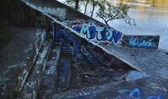at the end of the stairs (hshatlden) Tags: mississippiriver minnehaha graffiti urbanart urbanex urbanexploring nikontop nikonphotograph nikond3100 nikon 2016 mn minnesota minneapolis