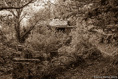 Abandoned places in Val d'Arigna (Enrico Tom) Tags: old travel trees blackandwhite bw italy abandoned home blackwhite woods ruins italia haunted valley exploration valtellina sondrio