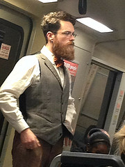professor4 (PeepHole of New York) Tags: subway beard bart bowtie vest professor