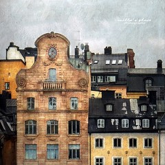 Rooftops of Stockholm (Milla's Place) Tags: windows rooftops sweden stockholm roofs textures gamlastan chimneys textured skeppsbron magicunicornverybest
