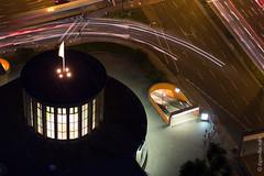 Berlin - abendlicher Blick vom Funkturm auf den Kaiserdamm