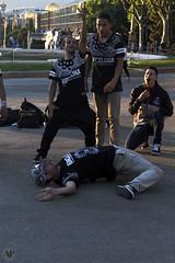 (NashaGraff) Tags: barcelona street urban music white black dance break bcn musica breakdance baile montjuic