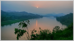 Sunset @ Vong Canh Hill (Bean Do) Tags: blue sunset sun mountain tree green water river landscape dawn photo twilight asia outdoor border vietnam viet burn greenery hue nam huong hu