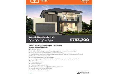 Lot 920 Elara, Marsden Park NSW