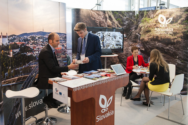 Slovak Tourist Board representatives at the 2015 Exhibition stand