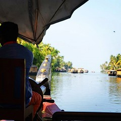 #backwaters in #kerala with #vedaguru i#india #viaggio #tourindia