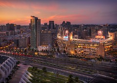 The Metropolitan Project (without reservation) Tags: city sunset urban eastvillage architecture hotel downtown cityscape sandiego baseball hilton gaslamp conventioncenter omnihotel harbordrive petcopark themetropolitanproject sonya7r