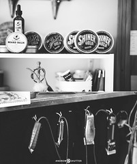 "DiDi & Smiling John's Traditional Barber Shop/Salon (Andrew ""Shutter"") Tags: blackandwhite white haircut black classic smiling shop vintage hair nikon traditional details 85mm lifestyle barbershop barber hairsalon salon nikkor fx didi johns nikkorlens d600 nikkor85mm nikkor85mmf18 nikond600 traditionalbarbershop andrewsutter andrewsutterphotography andrewshutter andrewshutterphotography andrewshutterphoto andrewsutterphoto didismilingjohns"