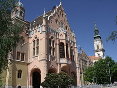 City Hall and the Great Catholic Church, Kecskemt, Hungary (Norbert Bnhidi) Tags: hungary kecskemt church ungarn hungra hongrie ungheria hungria hongarije  magyarorszg ketschkemet  kekemet kekemit