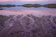 Between Day and Night (phunnyfotos) Tags: phunnyfotos australia victoria vic northeastvictoria fallscreek bogonghighplains rockyvalleydam lake dam agl sunset twilight pink dusk evening water reflections reflection alpine nikon d750 nikond750 shore lakeside hydroelectricity pebbles