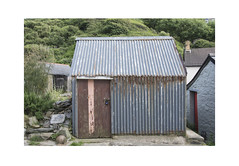 Corrugated Shed (Pictures from the Ghost Garden) Tags: nikon d7100 dslr 18105mm unitedkingdom uk wales llangrannog ceredigion landscape rural rurallandscape buildings architecture corrugated sheds huts rust