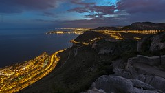 La Tte de Chien, one of the most famous spot from South France for climbers ! (Claude Jenkins) Tags: france ctedazur laturbie lattedechien escalade climbing capdail juanlespins nightshot sea mer mditerran nuages clouds nikon d750 wideangle grandangle afs1424f28 longexposure pauselongue