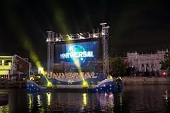 Cinematic Spectacular Light Show (arteephact) Tags: show light water night orlando florida screen universalstudios themepark amount duffs 2016 sal1650 cinematicspectacular sonya77ii 1650mm28dt