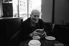 My Father - Los Angeles, CA 2015 (Val Blakely) Tags: portrait blackandwhite film senior coffee golden father elderly years filmphotography filmisnotdead filmcommunity