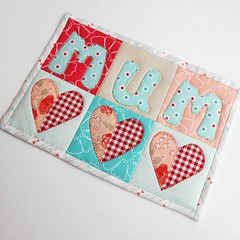 IG Love Mum Mug Rug (The Patchsmith) Tags: patchsmith patchsmithpatterns mugrug mothersday miniquilt applique patchwork