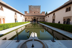 Court of the Myrtles - South (RaminN) Tags: reflection pond spain perspective palace alhambra granada patiodelestanqueodelaalberca