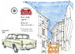 Montauban, juillet 2016 (gerard michel) Tags: france tarnetgaronne montauban sketch croquis auto ancêtre