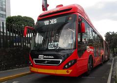 Volvo 7300 Biarticulado BRT (Metroferreo) Tags: volvo7300 biarticulado busrapidtransitmexico brt metrobuscorredorinsurgentes volvobusesmexico indiosverdeselcaminero doctorgalvez