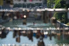Ljubljanica locked (Red Greg) Tags: ljubljana slowenia lovelock liebesschloss kanu ljubljanica
