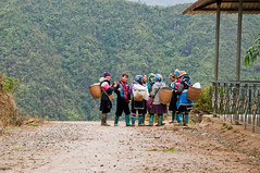 My village my family (_Maganna) Tags: landscape outside woman village villagers view rucksack vietnam guides talking meeting mountains mud muddy boots travel